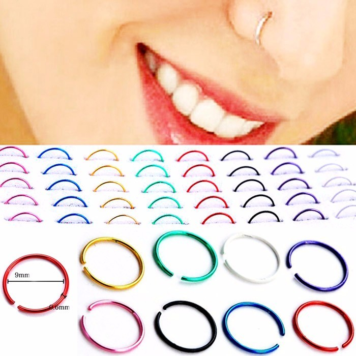 ANTING HIDUNG JEPIT ( nose ring ) BLACK