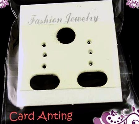 CARD ANTING isi 100 PUTIH + plastik