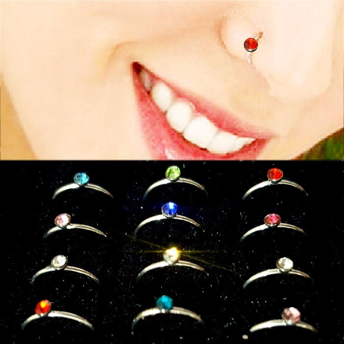 ANTING HIDUNG JEPIT INDIA ( nose ring ) BLUE