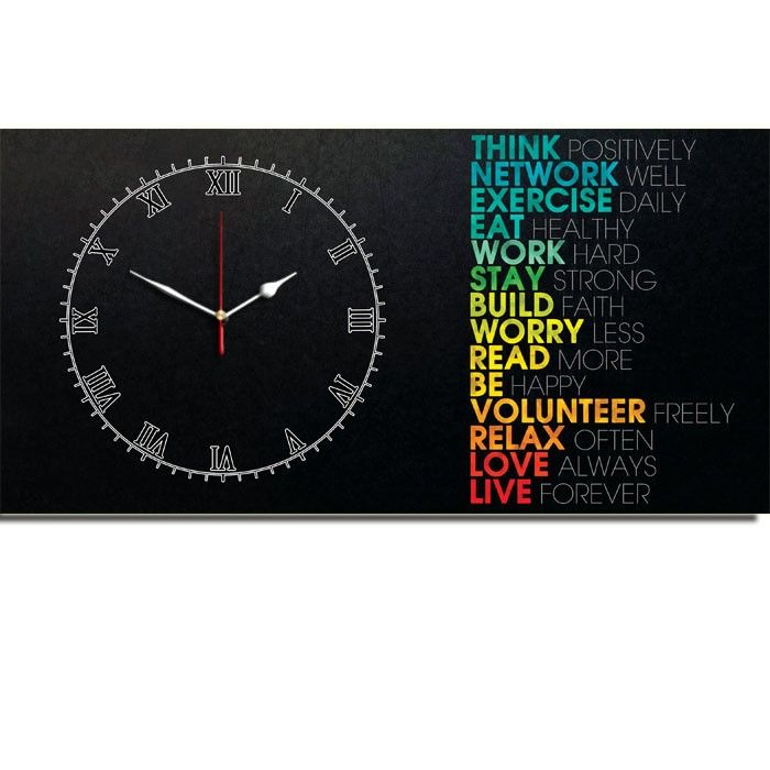 JAM DINDING QOUTE THINK 40x80cm