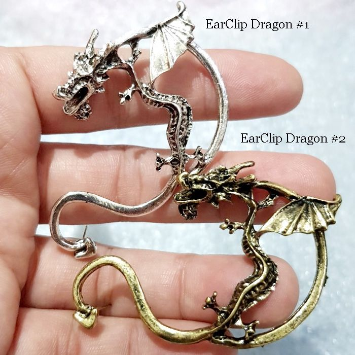 ANTING EARCLIP DRAGON 1 SILVER ( 1 buah )