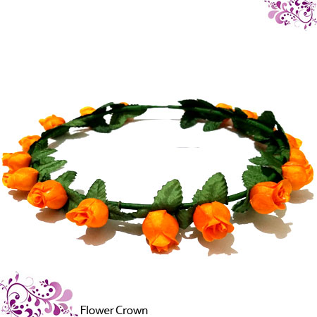 BANDO FLOWER CROWN ORANGE