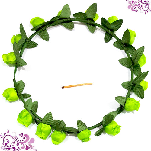 BANDO FLOWER CROWN GREEN
