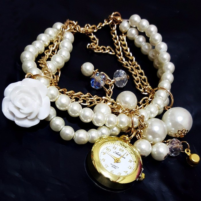 JAM FASHION MUTIARA MAWAR - WHITE