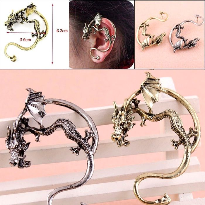 ANTING EARCLIP DRAGON 2 Gold ( 1 buah )