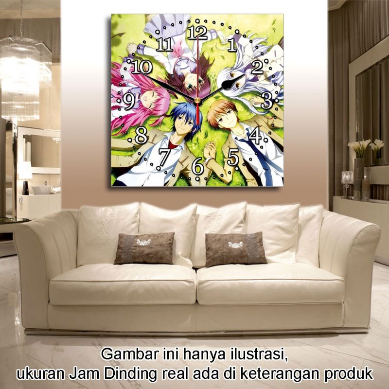 JAM DINDING ANIME ANGEL BEAT 40x40cm