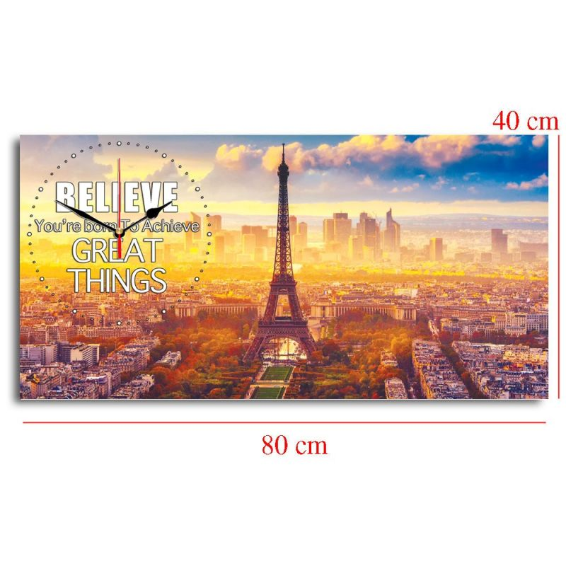 JAM DINDING QUOTE PARIS 40x80cm